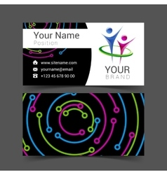 business card for your business with the logo of vector image vector image