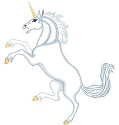 Cartoon heraldic unicorn vector