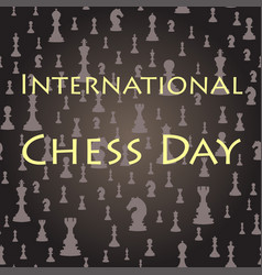 Chess seamless background international chess day vector