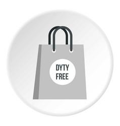 Duty free bag icon circle vector