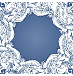 frame with hand-drawing sketch vector image