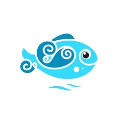 Frozen fish sign vector
