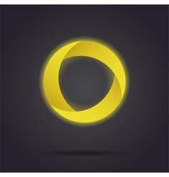 Golden segmented circle icon vector