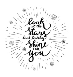 lettering positive quotes vector image vector image
