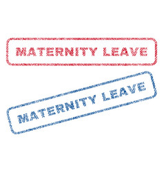Maternity leave textile stamps vector