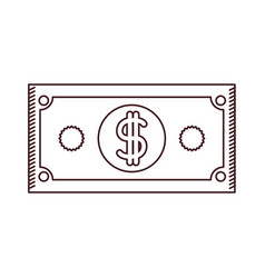 Monochrome silhouette of dollar bill vector