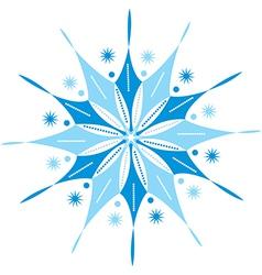 Original snowflake lace vector