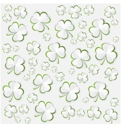 Paper Clover leaves pattern background for vector image vector image