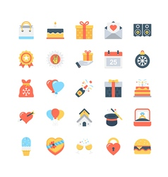 Party and celebration icons 4 vector