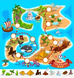 Pirate Treasure Map vector image