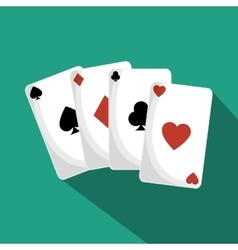 poker cards isolated icon vector image vector image