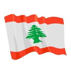 Political waving flag of lebanon vector