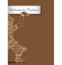 Rakshasa Thai statue Black outlines isolated on vector image vector image