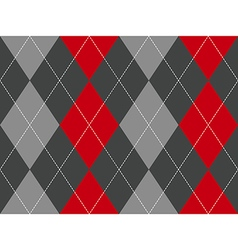 Red gray argyle fabric texture seamless pattern vector image