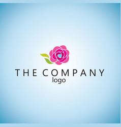 Rose logo ideas design vector