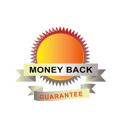 Seal with scroll money back guarantee vector image vector image