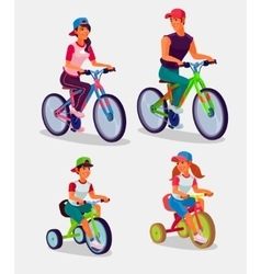 Set of adults and children vector image