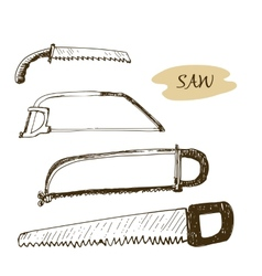 Set of saws vector image vector image