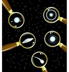 Set of space objects supernova pulsar stars vector