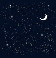 Space starry sky with the moon vector