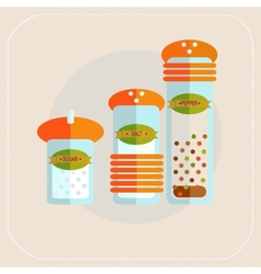 Spices icon flat vector
