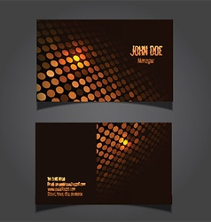 Techno dots business card 0906 vector