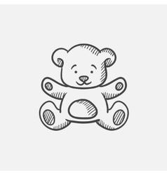 Teddy bear sketch icon vector image