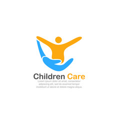 template logo for children care vector image vector image