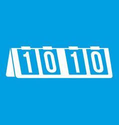 Tennis scoreboard icon white vector