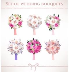 Wedding bouquets vector image