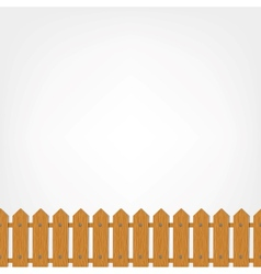 Wooden fence seamless pattern for your design vector image
