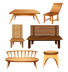 Wooden furniture vector image