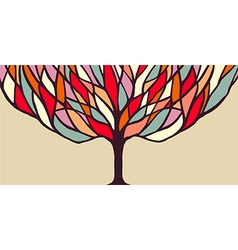 Colorful tree concept for banner vector