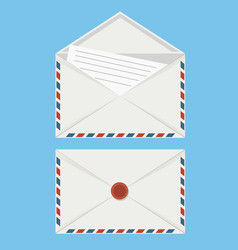 close and open envelops icon isolated set vector image