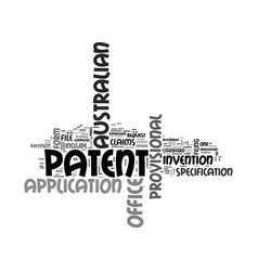 Australian patent office text word cloud concept vector