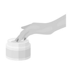 Cream single icon in monochrome stylecream vector