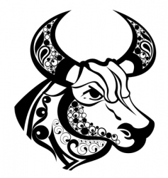 Zodiac signs taurus vector
