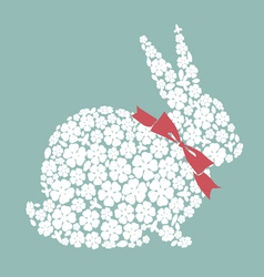 Easter design with bunny from flowers vector