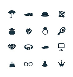Set of accessories icons vector