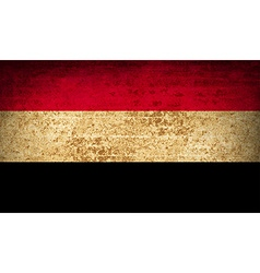 Flags yemen with dirty paper texture vector
