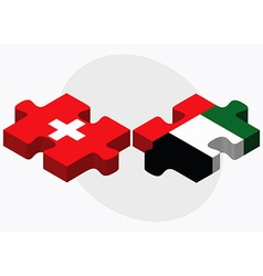 Switzerland and united arab emirates flags vector