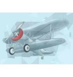Biplane in the sky vector