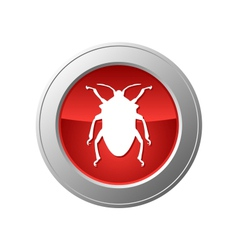 Bug button vector