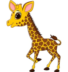 Adorable giraffe character isolated vector
