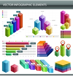 3d infographics collection vector