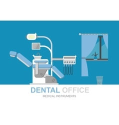 Dentist chair isolated vector