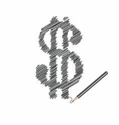 Scribble of money vector