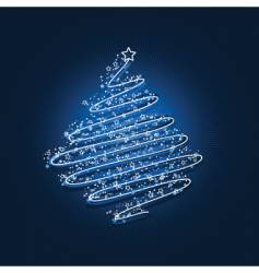 scribble Christmas tree vector image