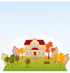 School time town vector