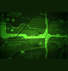 abstract green digital communication technology vector image
